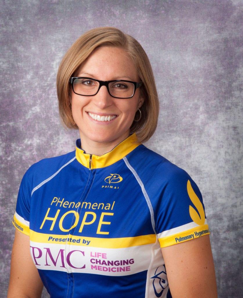Ryanne Palmero in her Team PHenonmenal Hope racing jersey