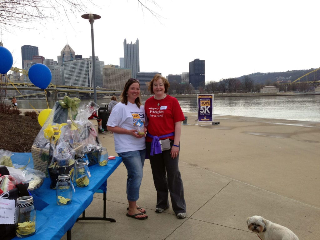 Julie Feitner on the North Shore of PIttsburgh