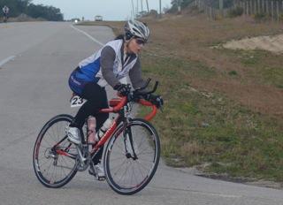 Pascale Lercangee cycling
