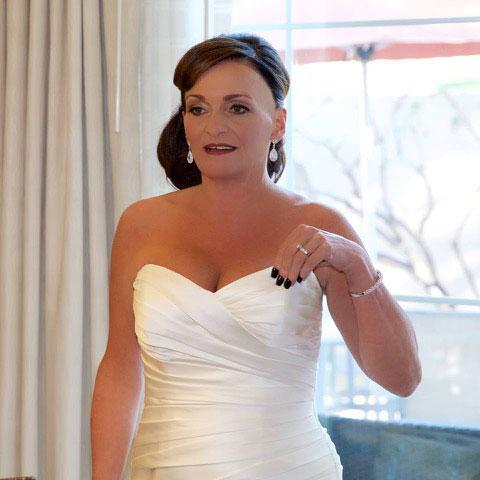 Tiffany Gunderman in a bridal gown