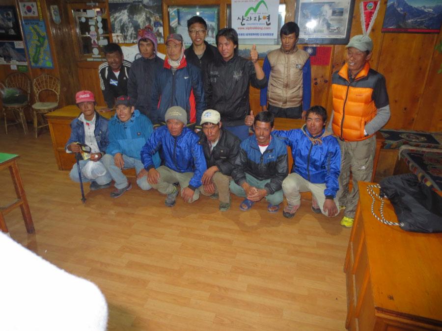 Eileens Sherpa Crew in Nepal