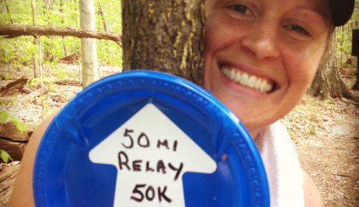 Ryanne Palmero with mile marker