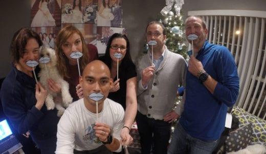 New 2016 Team PH team members giving a blue lip kiss!