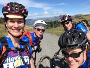 The Team PH four on their pre-race ride, smiling