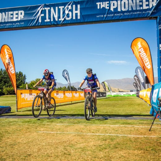 Hap and Patty at the finish line at the Pioneer New Zealand