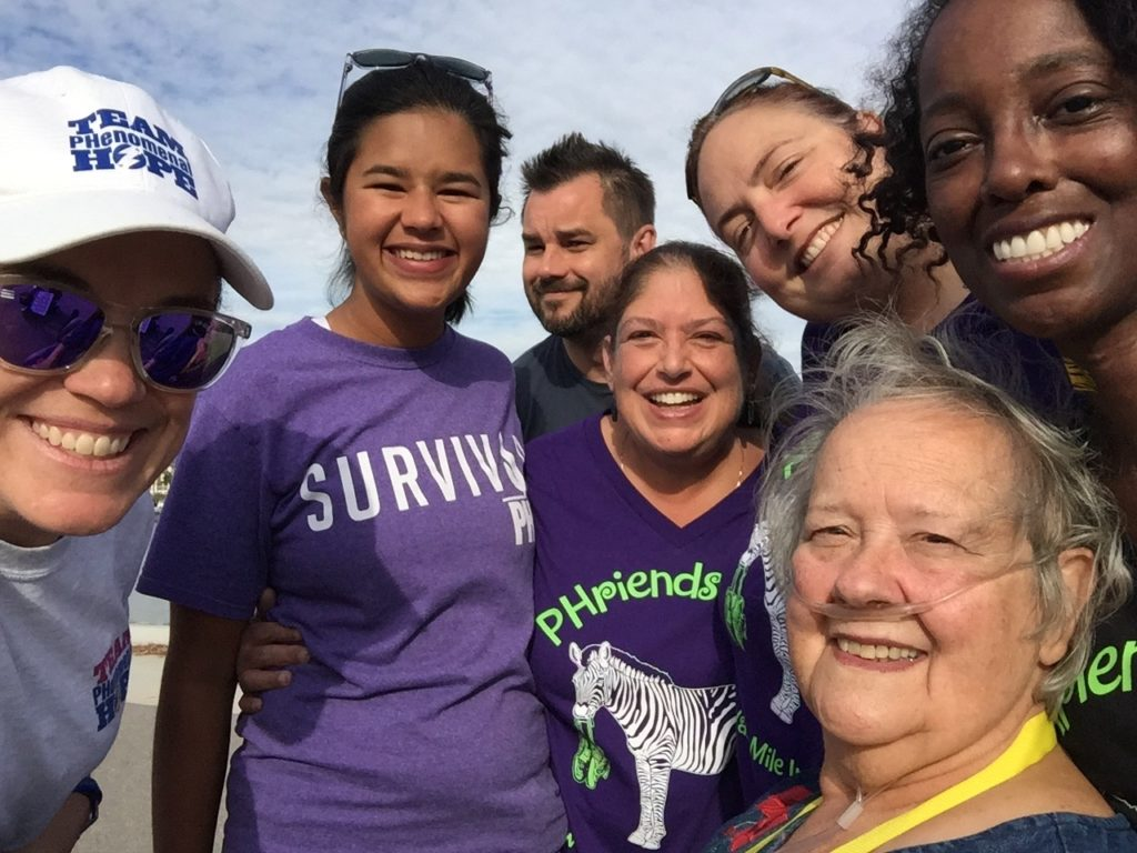 Friends take a selfie at the PHriends 4 Life walk