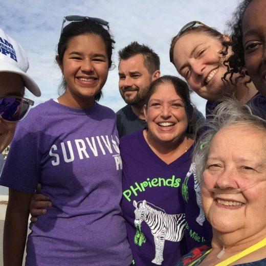 Friends take a selfie at the PHriends 4 Life walk