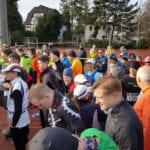 Katrin Hetebruegge at a starting line in her race for Monika Kischel
