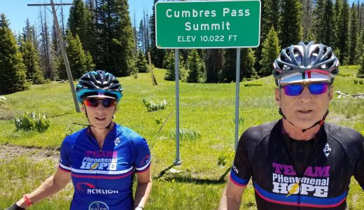 Gretchen Frey and Kern Buckner Cumbres Pass 2017