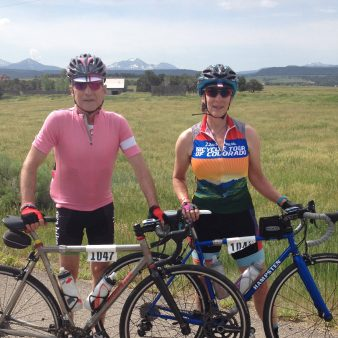 Gretchen Frey and Kern Buckner prepare for their 2017 Cycling Tour of Colorado